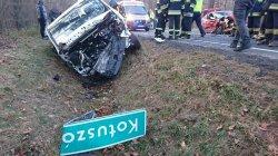 Zderzenie 3 samochodów w Jaksonku (AKTUALIZACJA)