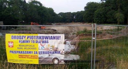 Park Belzacki w modernizacji