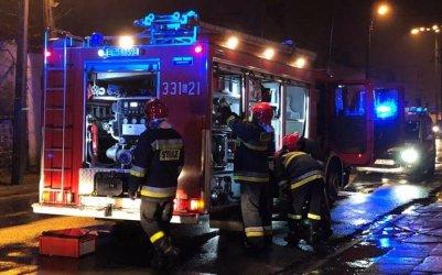 Pożar na ul. Narutowicza w Piotrkowie