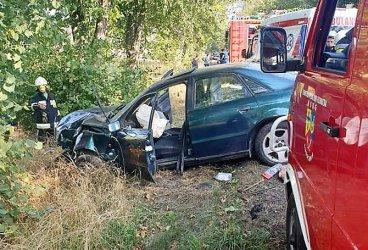 Kierowca wypadł z drogi w Lubochenku