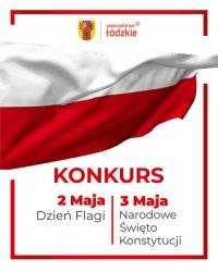 Konkurs z okazji obchodów Dnia Flagi  oraz Święta Konstytucji 3 Maja
