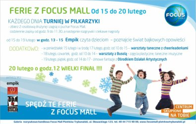 Zimowe ferie z Focus Mall Piotrków Trybunalski