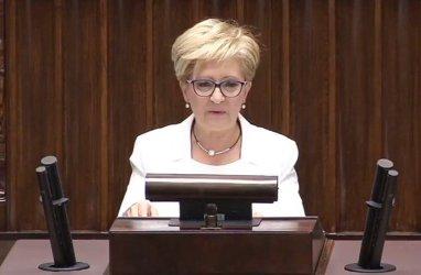 Elżbieta Radziszewska po raz ostatni na sejmowej mównicy