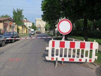 Ulica Jagiellońska częściowo zamknięta