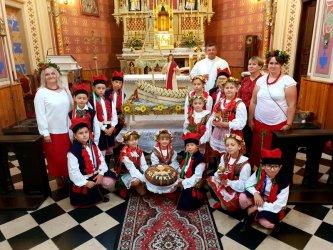 Dożynki w parafii Milejów
