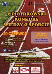 Już w sobotę V Piotrkowski Konkurs Wiedzy o Sporcie