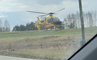 Wypadek w Srocku. Na miejscu interweniował śmigłowiec LPR