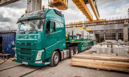 Transport materiałów budowlanych na Skandynawię