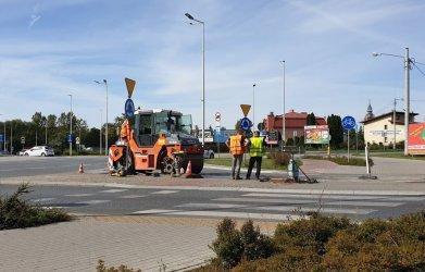 Naprawiają ul. Curie-Skłodowskiej przy wjeździe na Rondo Sulejowskie