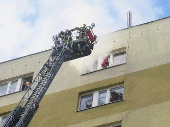 Strażackie ćwiczenia przy ul. Zamenhofa