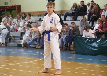 Młodzi karatecy prezentowali się w Moszczenicy