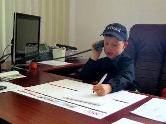 5-letni Bartek dowodzi piotrkowskimi strażakami
