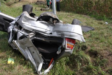 Wypadek w Niechcicach. Kierowcy w szpitalu