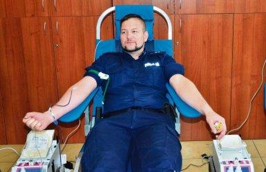 Zbierali krew dla strażaka ochotnika z OSP Zamość
