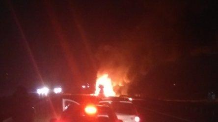 Pożar na A1. Spłonęło sześć aut