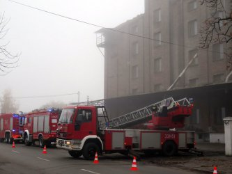 Wybuch na terenie młyna w Piotrkowie