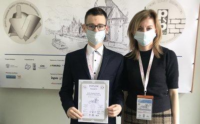 Uczeń Budowlanki wyróżniony w ogólnopolskiej olimpiadzie branżowej