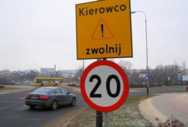 Po drodze krajowej tylko 20 na godzinę