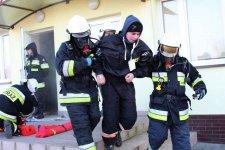 W budynku OSP Krzyżanów wybuchł pożar [ćwiczenia strażaków]
