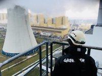 Protestowali na kominie bełchatowskiej elektrowni
