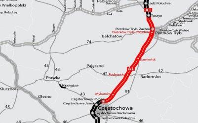 Autostrada A1: Ruch po jednej nitce jeszcze w tym roku