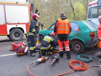 Osiemnastu rannych w wypadku na Wolborskiej