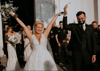 Poznali się na służbie. Para funkcjonariuszy aresztu w Piotrkowie wzięła ślub