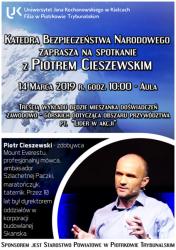 UJK zaprasza na wykład otwarty ze zdobywcą Mount Everestu Piotrem Cieszewskim