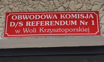 Referendum. Jak głosowali w Woli Krzysztoporskiej?