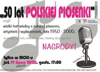 MOK zaprasza na wielki test wiedzy o polskiej piosence