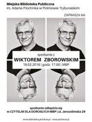 Spotkanie z Wiktorem Zborowskim w piotrkowskiej bibliotece