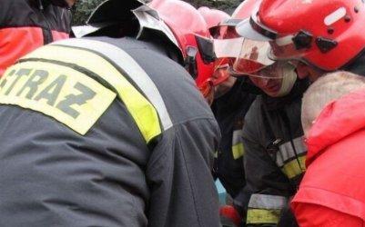Pożar w Bagnie. Poparzona jedna osoba