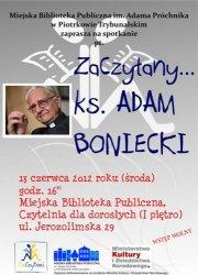 Ksiądz Adam Boniecki w Bibliotece Miejskiej