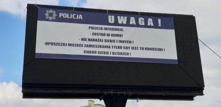 Policjanci apelują za pomocą banerów