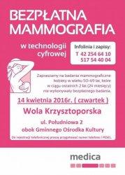 W połowie kwietnia do Woli Krzysztoporskiej znów przyjedzie mammobus