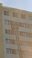 Pożar w wieżowcu na Słowackiego. Przyczyną podpalenie?
