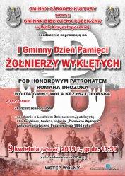 Wola Krzysztoporska: I Gminny Dzień Pamięci Żołnierzy Wyklętych