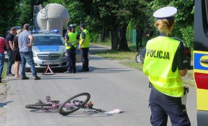 Zachowajcie ostrożność na drogach! Groźne zdarzenie z udziałem młodej rowerzystki