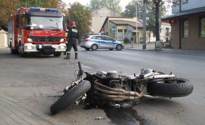 Ul. Roosevelta w Piotrkowie: Wypadek z udziałem motocyklisty