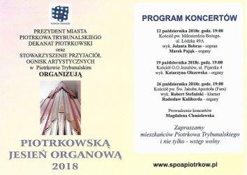 Rozpoczyna się Piotrkowska Jesień Organowa
