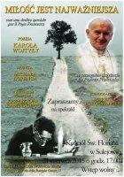Kamiński będzie recytował poezję Wojtyły