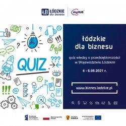 Quiz wiedzy o przedsiębiorczości  w Województwie Łódzkim w radiu Strefa FM