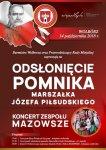 """Odsłonięcie popiersia Marszałka i koncert """"Mazowsza"""""""