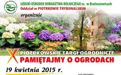 X Piotrkowskie Targi Ogrodnicze