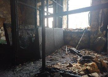 Groźny pożar kamienicy przy ul. Wiejskiej
