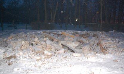 Piotrków: Szalet zburzony