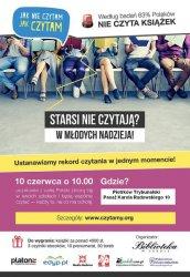 """Akcja """"Jak nie czytam, jak czytam"""" w Piotrkowie"""