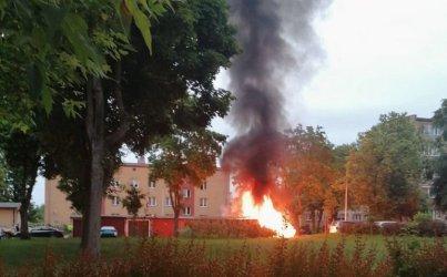 Kolejny pożar śmietnika na osiedlu Wyzwolenia