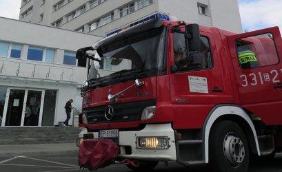 Ewakuacja w budynku policji