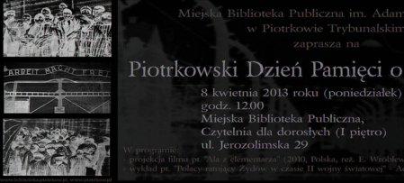 O holokauście w Bibliotece Miejskiej